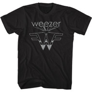 Weezer Rock Band Flying 3D Logo Adult Short Sleeve T-Shirt Graphic Tee