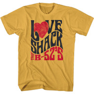 The B52s Band Love Shack & Band Logo Adult Short Sleeve T-Shirt Graphic Tee