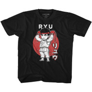 Street Fighter Video Game Ryu Japanese Youth Short Sleeve T-Shirt Graphic Tee