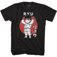 Street Fighter Video Game Ryu Japanese Adult Short Sleeve T-Shirt Graphic Tee