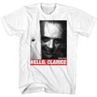 Silence Of The Lambs Movie Hannibal Lecter Hello Clarice Adult Short Sleeve T-Shirt