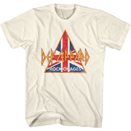 Def Leppard Rock Band British Rock of Ages Adult Short Sleeve T-Shirt Graphic Tee