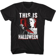 Halloween Movie Michael Myers This is Halloween Adult Short Sleeve T-Shirt Tee