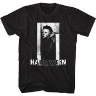 Halloween Movie Michael Myers & Logo Adult Short Sleeve T-Shirt Graphic Tee