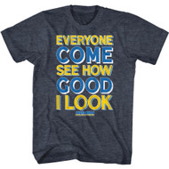 Anchorman Movie See How Good I Look Adult Short Sleeve T-Shirt Graphic Tee