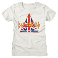 Def Leppard Rock Band British Rock of Ages Ladies Short Sleeve T-Shirt Graphic Tee