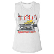 Train Rock Band Bulletproof Picasso Ladies Slub Sleeveless Crew Neck Tee Shirt