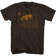 Train Rock Band Logo California Bear Adult Short Sleeve T-Shirt Graphic Tee