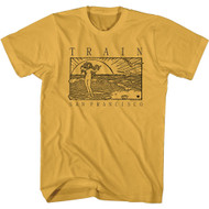 Train Rock Band San Francisco Beachy Sketch Adult Short Sleeve T-Shirt Graphic Tee