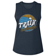 Train Rock Band Logo San Francisco Ladies Slub Sleeveless Crew Neck Graphic Tee