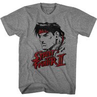 Street Fighter II Video Game Ryu Distressed Adult Short Sleeve T-Shirt Graphic Tee
