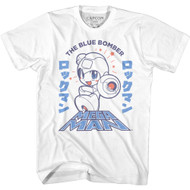 Mega Man Video Game The Blue Bomber Adult Short Sleeve T-Shirt Graphic Tee