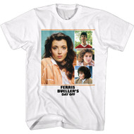Ferris Bueller's Day Off Movie Sloane Collage Adult Short Sleeve T-Shirt Graphic Tee