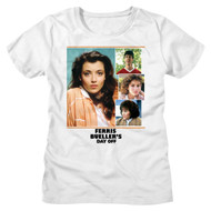 Ferris Bueller's Day Off Movie Sloane Collage Ladies Short Sleeve T-Shirt Graphic Tee