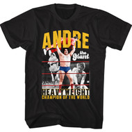 Andre The Giant Wrestler Heavyweight Champion Of The World Adult Short Sleeve T-Shirt