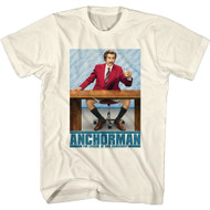 Anchorman Movie The Legend of Ron Burundy Adult Short Sleeve T-Shirt Graphic Tee