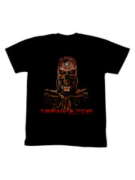 Terminator 1980's SciFi Action Movie Burnt Cyborg Adult T-Shirt