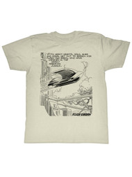 Flash Gordon 1930's Comic Strip Vintage Style Futuristic Search For Adult Tshirt