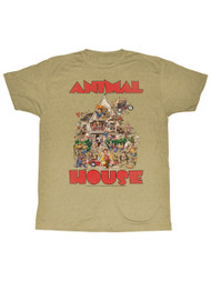 Animal House 1970's College Frat Movie Delta Party House Poster Adult T-Shirt