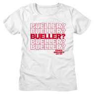 Ferris Beuller's Day Off 80s Movie Bueller Question Repeat Ladies Short Sleeve T-Shirt