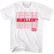 Ferris Beuller's Day Off 80s Movie Bueller Question Repeat Adult Short Sleeve T-Shirt