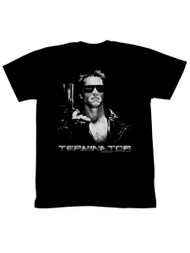 Terminator 1980's SciFi Action Movie T-800 Model 101 Adult T-Shirt