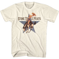 Stone Temple Pilots Rock Band Riding Branco Adult Short Sleeve T-Shirt Graphic Tee