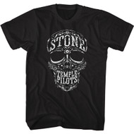 Stone Temple Pilots Rock Band Skull Adult Short Sleeve T-Shirt Graphic Tee
