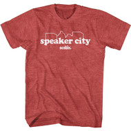 Old School Movie Comedy Speaker City Adult Short Sleeve T-Shirt Graphic Tee