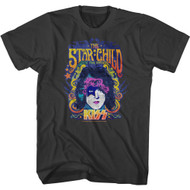 Kiss Rock Band The Star Child Rock The Nation Adult Short Sleeve T-Shirt Graphic Tee