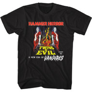 Hammer Horror Twins of Evil Poster Adult Short Sleeve T-Shirt Graphic Tee