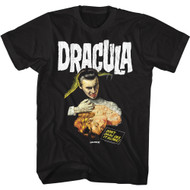 Hammer Horror Dracula Movie Don't Dare See it Alone Adult Short Sleeve T-Shirt Tee
