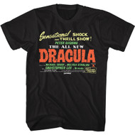 Hammer Horror Dracula Movie Poster Adult Short Sleeve T-Shirt Graphic Tee