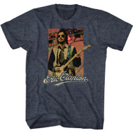 Eric Clapton Musician Playing Guitar Adult Short Sleeve T-Shirt Graphic Tee