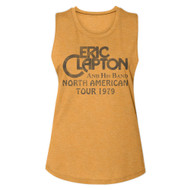 Eric Clapton And His Band North American Tour '79 Ladies Muscle Tank Top