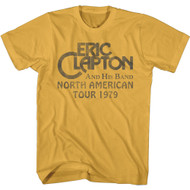 Eric Clapton And His Band North American Tour '79 Adult Short Sleeve T-Shirt Tee