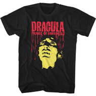 Hammer Horror Dracula Prince of Darkness Adult Short Sleeve T-Shirt Graphic Tee