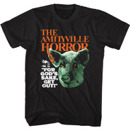 Amityville Horror Movie For God's Sake Get Out Adult Short Sleeve T-Shirt Tee
