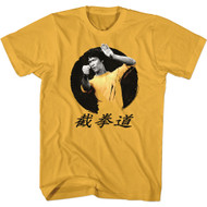 Bruce Lee Martial Artist Ready for Action Adult Short Sleeve T-Shirt Graphic Tee
