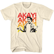 Ace Ventura 1994 Comedy Movie Jim Carrey Akay! Akay! Tan Beige Adult T-Shirt