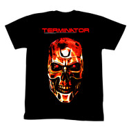 Terminator 1984 SciFi Action Movie Red Cyborg Skeletal Face Black Adult T-Shirt