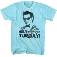Ace Ventura 1994 Comedy Jim Carrey Blue Holy Testicle Tuesday! Adult T-Shirt