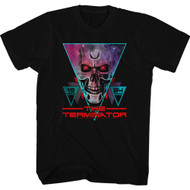 Terminator 1984 SciFi Action Movie Cyborg Skeletal Face Black Adult T-Shirt