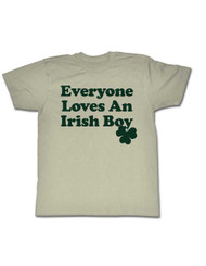 Everyone Loves An Irish Boy 4 Leaf Clover St. Patty's Day Adult T-Shirt Tee