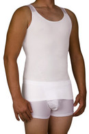 MEN'S COMPRESSION SHIRT GIRDLE tank undershirt
