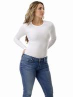 Women Compression Long Sleeves Medium Compression Microfiber Top