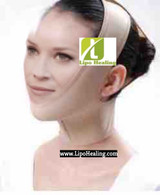 Face Chin Strap with Neck Compression Medium Compression Free Lipofoam Strips by Lipohealing, Corp.
