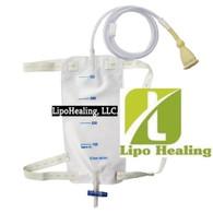 Urine Leg Bag Collector Catheter Male Portable Men's Urinal 750ml KIT Free LIPOFOAM Strip by USA Shapewear, Inc. TOP Quality 2 PACK SALE Male Urinal with Leg Straps