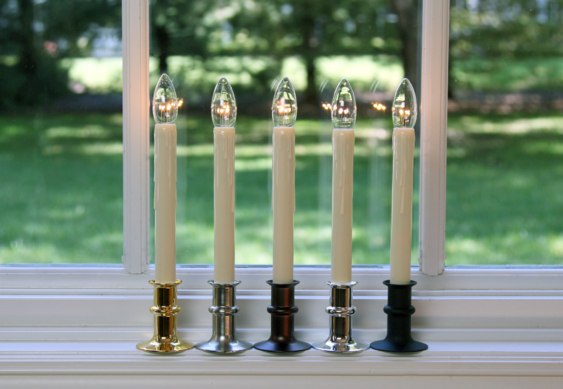 Cordless Window Candles Christmas Window Decorations