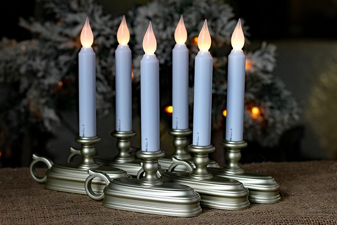 Cordless Led Christmas Window Candles